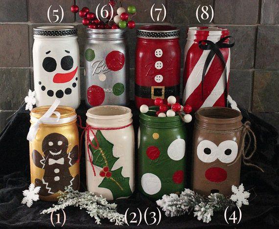DIY avec des Bocaux en Verre 20+ Idées Brillants pour Déco Noël DIY ...
