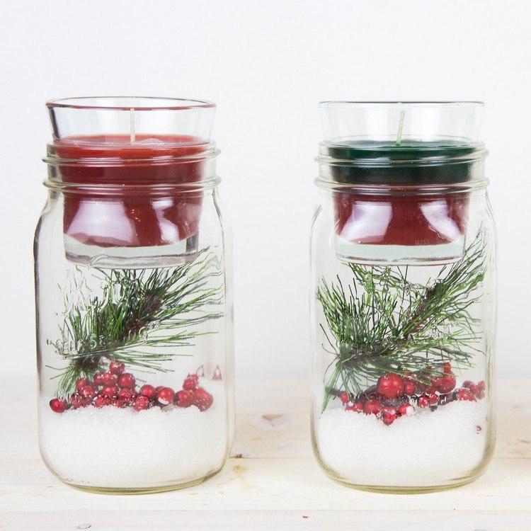 20 Idées Pour Aménager Un Petit Balcon: 20+ Idées Brillants Pour Déco Noël DIY Avec Des Bocaux En