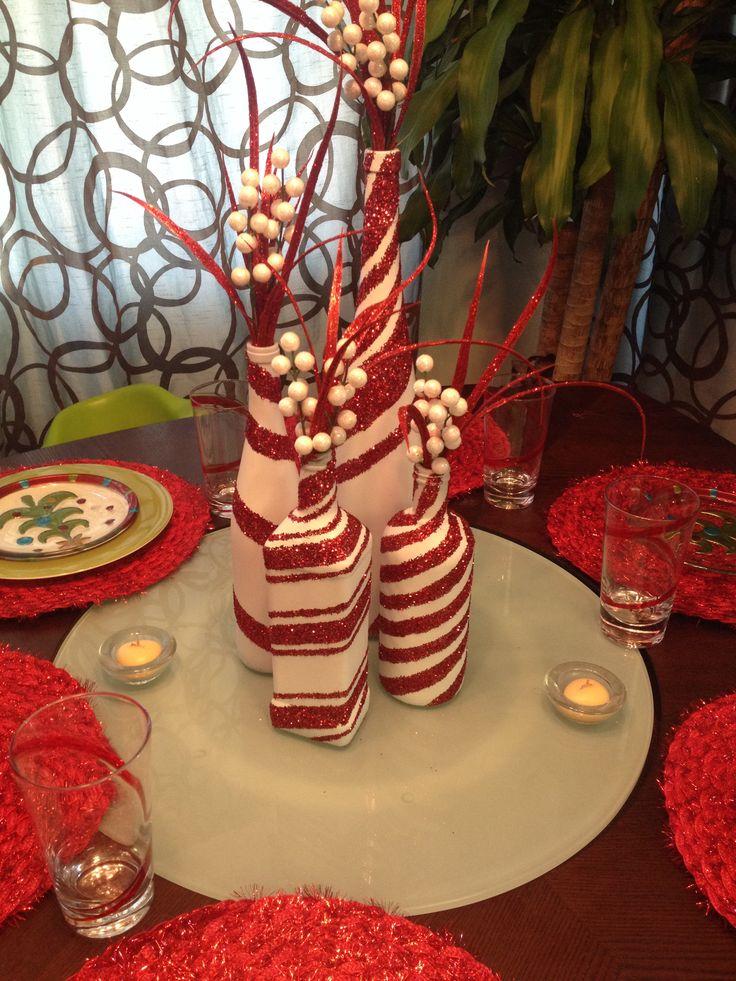 20+ Incroyable Décorations de Noël avec des Bouteilles de Verre