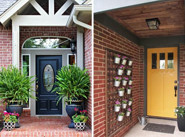 15+ Magnifiques Idées Pour Décorer les Portes d'Entrée