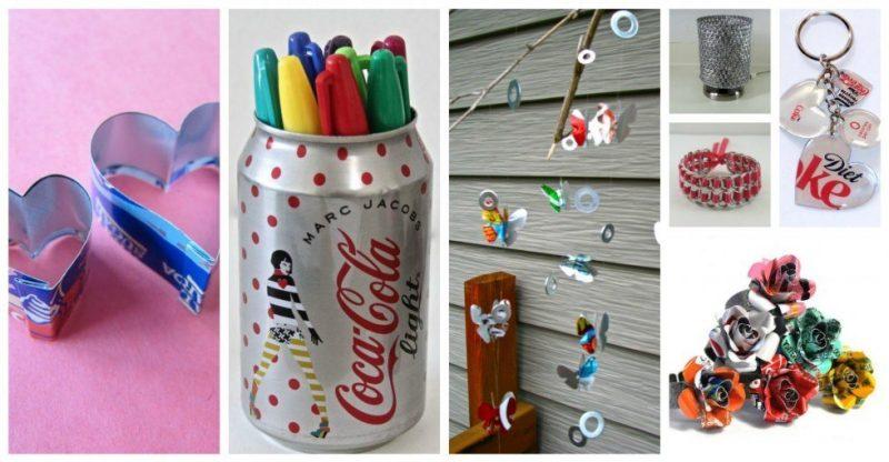 15+ Fantastique Idées pour Recycler les Canettes de Soda