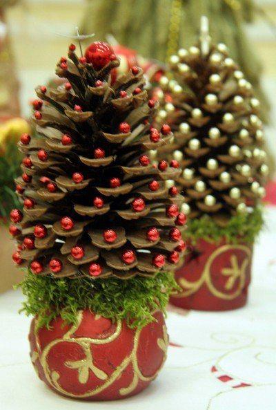 13+ DIY Déco Mini-Sapins de Noël