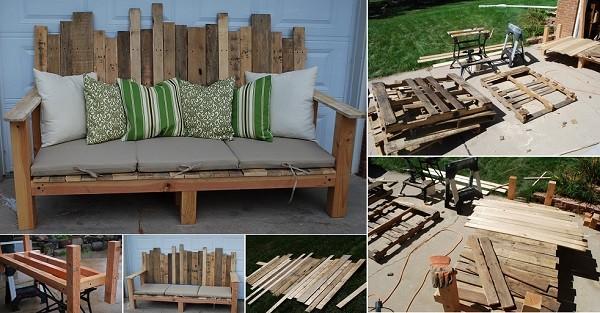 15+ Idées Magnifiques Pour Créer vos Meubles en Palettes de Bois