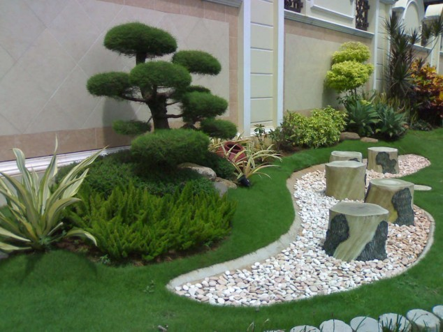 15+ Jardin Impressionnant Avec des Pierres et des Rochers