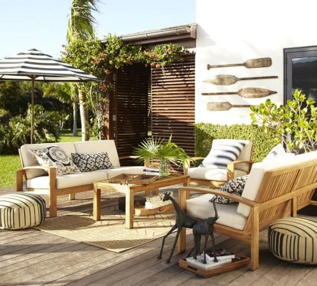15 id es pour am nager un coin salon ext rieur confortable. Black Bedroom Furniture Sets. Home Design Ideas