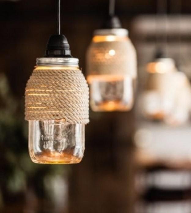20+ Idées Originales pour l'Éclairage avec Pots Mason