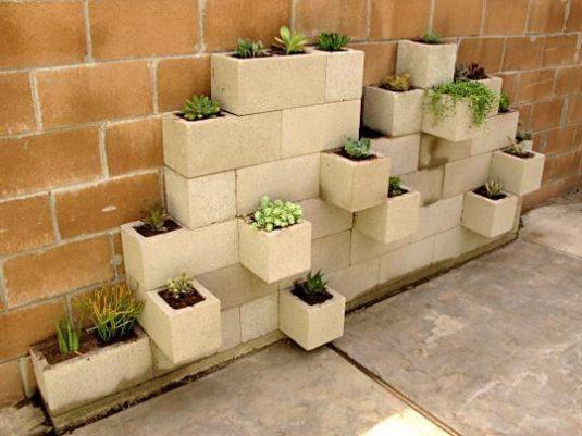 Bloc Béton pour la Déco de Jardin 15+ Idées Fantastiques Avec Bloc ...