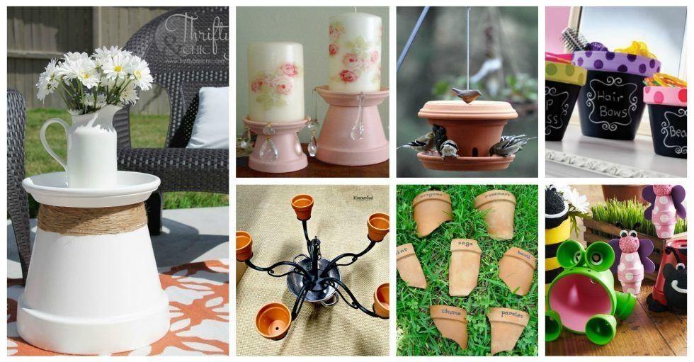 id es d co jardin pour int grer les pots en terre cuite. Black Bedroom Furniture Sets. Home Design Ideas