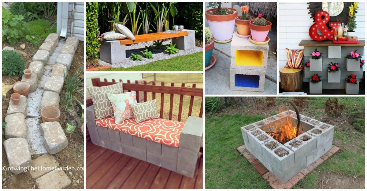 15 id es fantastiques avec bloc b ton pour la d co de jardin for Bloc beton jardin