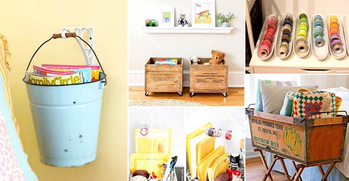 25 id es g niales de rangements pour toutes les pi ces de la maison. Black Bedroom Furniture Sets. Home Design Ideas