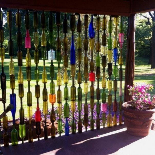 15+ DIY Simple et Originale pour Votre Jardin avec Bouteilles en Verre