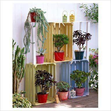 25+ Idées Créatives Pour Décorer Votre Jardin Avec Caisses en Bois