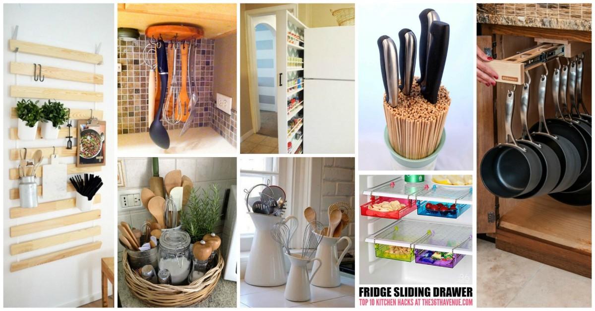 15 id es de rangements pour votre cuisine qui vont vous changer la vie. Black Bedroom Furniture Sets. Home Design Ideas