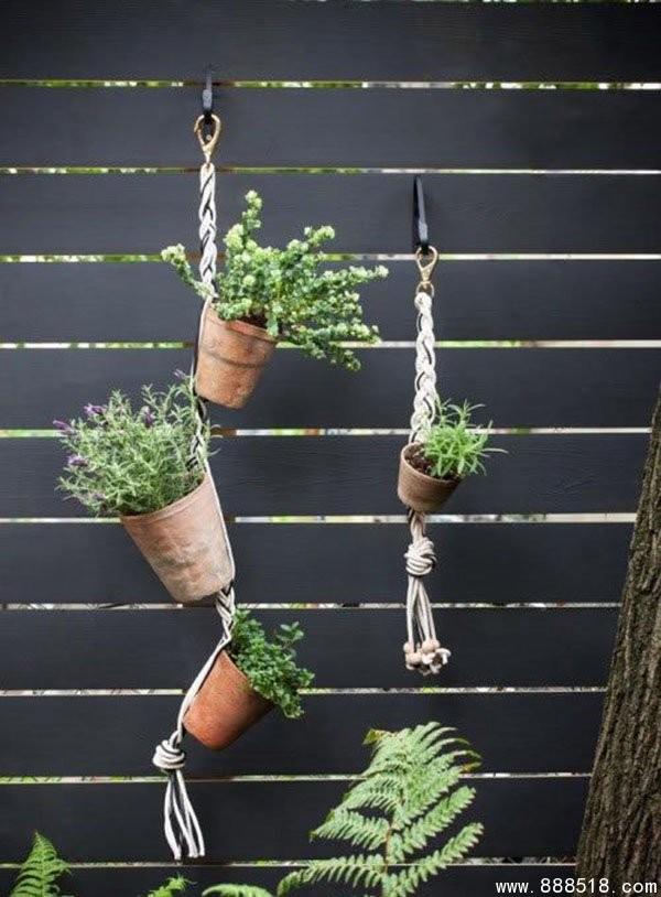 10+ Incroyables Idées Jardinières Avec Cordes  10+ Incroyables Idées Jardinières Avec Cordes