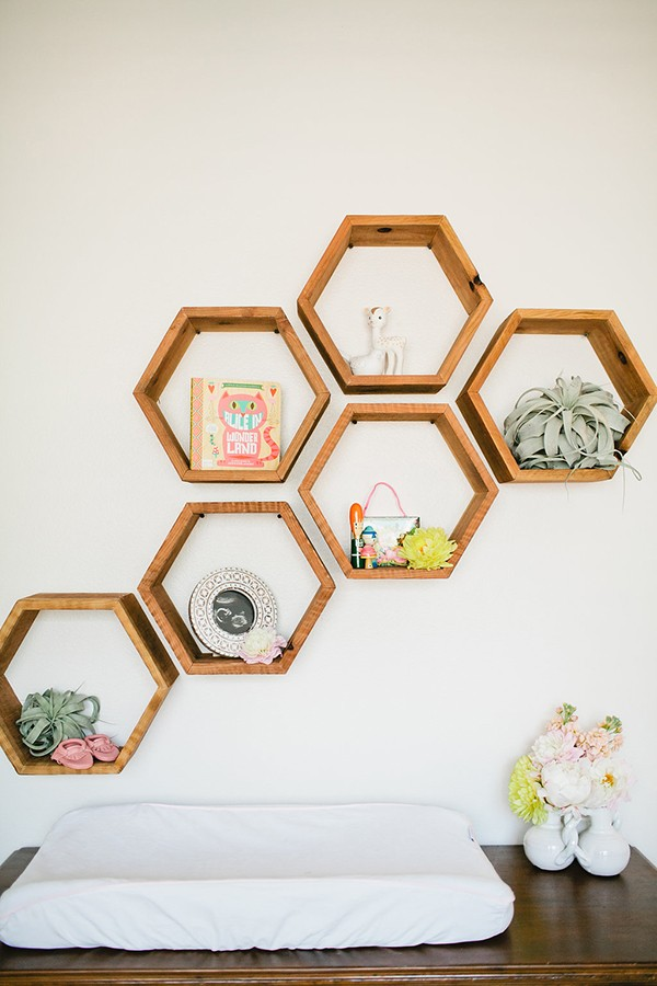 15+ Idées Incroyables d'Étagère Hexagonale