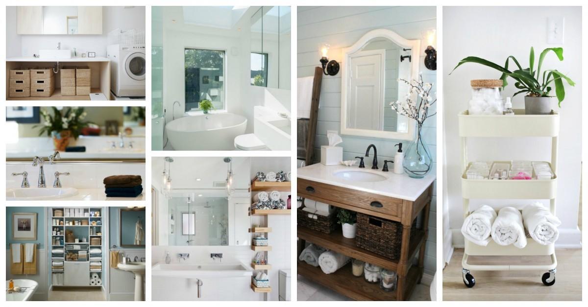 Des id es simples pour organiser votre salle de bain - Organiser sa salle de bain ...