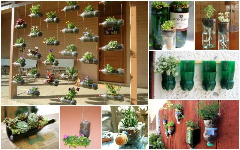 idee-jardinieres-bouteilles-recyclees